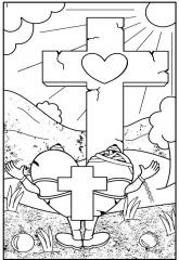 Kleurplaten Liefde Van God.Kleurplaten Pasen Clipart Geloven Is Leuk